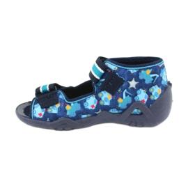 Sandale Befado încălțăminte copii 250P090 alb albastru marin albastru 2