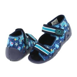 Sandale Befado încălțăminte copii 250P090 alb albastru marin albastru 4