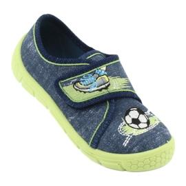 Încălțăminte pentru copii Befado 557P138 albastru marin verde 2