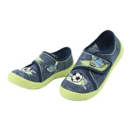 Încălțăminte pentru copii Befado 557P138 albastru marin verde 4