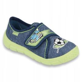 Încălțăminte pentru copii Befado 557P138 albastru marin verde 1
