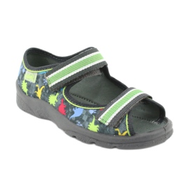 Pantofi pentru copii Befado 969X140 roșu albastru gri verde galben 1