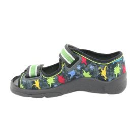 Pantofi pentru copii Befado 969X140 roșu albastru gri verde galben 2
