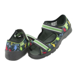 Pantofi pentru copii Befado 969X140 roșu albastru gri verde galben 4