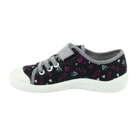 Încălțăminte pentru copii Befado 251Y142 negru roz gri 2