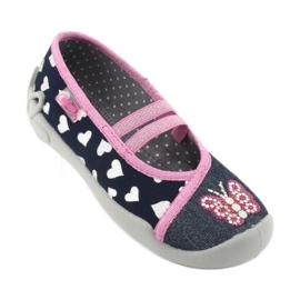 Încălțăminte pentru copii Befado 116X268 albastru marin roz 2