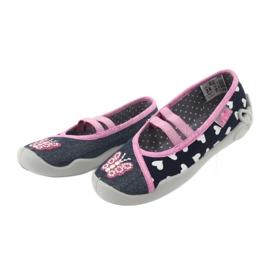 Încălțăminte pentru copii Befado 116X268 albastru marin roz 4