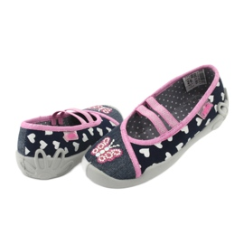 Încălțăminte pentru copii Befado 116X268 albastru marin roz 5