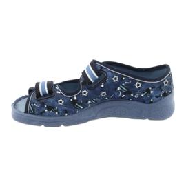 Încălțăminte pentru copii Befado 969Y141 alb albastru marin albastru 2