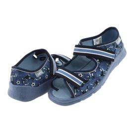 Încălțăminte pentru copii Befado 969Y141 alb albastru marin albastru 4