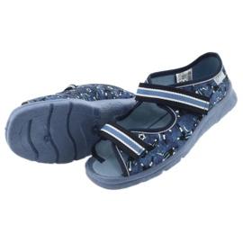 Încălțăminte pentru copii Befado 969Y141 alb albastru marin albastru 5