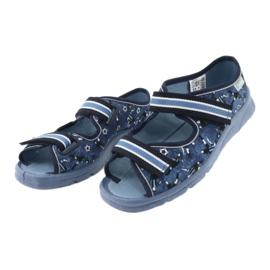 Încălțăminte pentru copii Befado 969Y141 alb albastru marin albastru 3