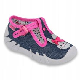 Încălțăminte pentru copii Befado 110P379 albastru marin roz 1