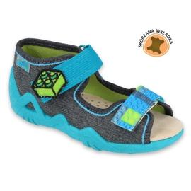 Pantofi pentru copii Befado galbeni 350P006 albastru gri 1