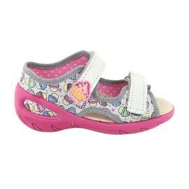 Pantofi pentru copii Befado 065X135 roz gri multicolor 1