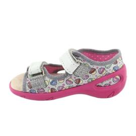 Pantofi pentru copii Befado 065X135 roz gri multicolor 3