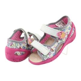 Pantofi pentru copii Befado 065X135 roz gri multicolor 5