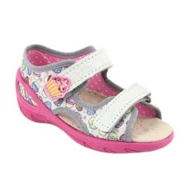 Pantofi pentru copii Befado 065X135 roz gri multicolor 2