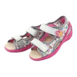 Pantofi pentru copii Befado 065X135 roz gri multicolor 4