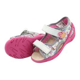 Pantofi pentru copii Befado 065X135 roz gri multicolor 6