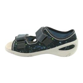 Pantofi pentru copii Befado pu 065P127 albastru gri multicolor 3
