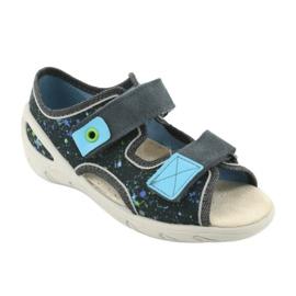 Pantofi pentru copii Befado pu 065P127 albastru gri multicolor 2