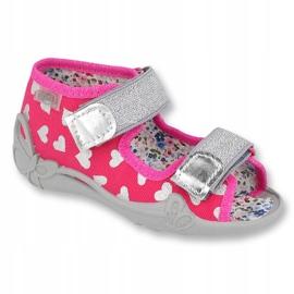 Încălțăminte pentru copii Befado 242P104 roz gri 1