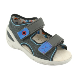 Pantofi pentru copii Befado pu 065X132 albastru gri 2