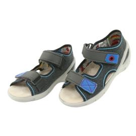 Pantofi pentru copii Befado pu 065X132 albastru gri 4