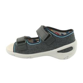 Pantofi pentru copii Befado pu 065X132 albastru gri 3