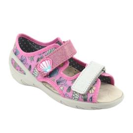 Pantofi pentru copii Befado 065X134 roz gri multicolor 2