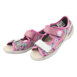 Pantofi pentru copii Befado 065X134 roz gri multicolor 4