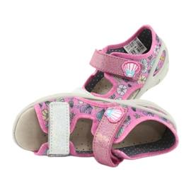 Pantofi pentru copii Befado 065X134 roz gri multicolor 6