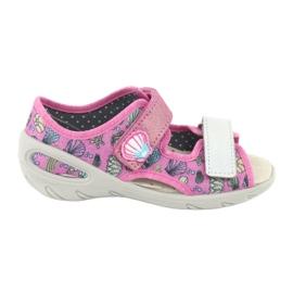 Pantofi pentru copii Befado 065X134 roz gri multicolor 1