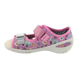 Pantofi pentru copii Befado 065X134 roz gri multicolor 3