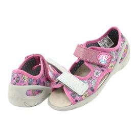 Pantofi pentru copii Befado 065X134 roz gri multicolor 5