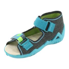 Pantofi pentru copii Befado galbeni 350P006 albastru gri 3
