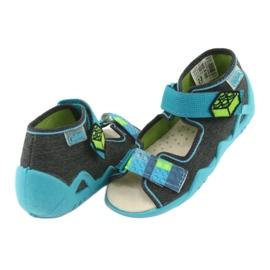 Pantofi pentru copii Befado galbeni 350P006 albastru gri 5