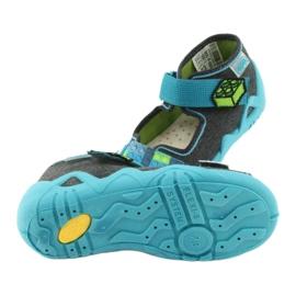 Pantofi pentru copii Befado galbeni 350P006 albastru gri 6