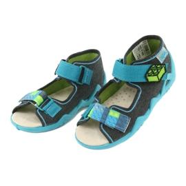 Pantofi pentru copii Befado galbeni 350P006 albastru gri 4