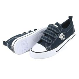 American Club Adidași pentru copii americani cu Velcro LH33 alb bleumarin 3