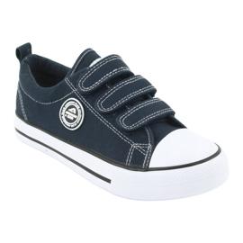 American Club Adidași pentru copii americani cu Velcro LH33 alb bleumarin 1