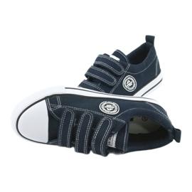 American Club Adidași pentru copii americani cu Velcro LH33 alb bleumarin 4
