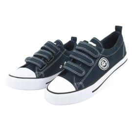 American Club Adidași pentru copii americani cu Velcro LH33 alb bleumarin 2