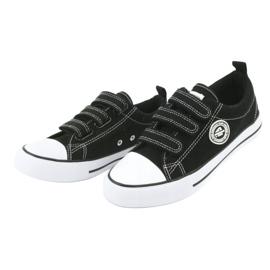 American Club Adidași pentru copii americani cu Velcro LH33 alb negru 2