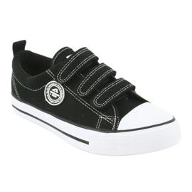 American Club Adidași pentru copii americani cu Velcro LH33 alb negru 1