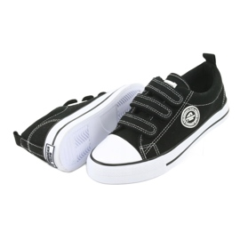 American Club Adidași pentru copii americani cu Velcro LH33 alb negru 3