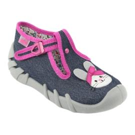 Încălțăminte pentru copii Befado 110P379 albastru marin roz 2