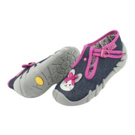 Încălțăminte pentru copii Befado 110P379 albastru marin roz 6
