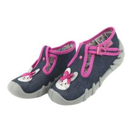 Încălțăminte pentru copii Befado 110P379 albastru marin roz 4